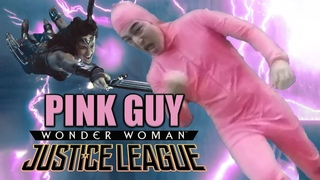 Pink Guy helps Wonder Woman in Justice League (Snyder Cut Meme)