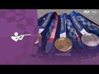 Церемония награждения. Стрельба (жен). ОКР, Болгария, Китай. Олимпиада-2020