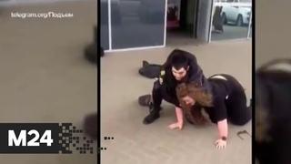 Жесткие кадры из Архангельска. Полицейский скрутил девушку после ее отказа надеть маску