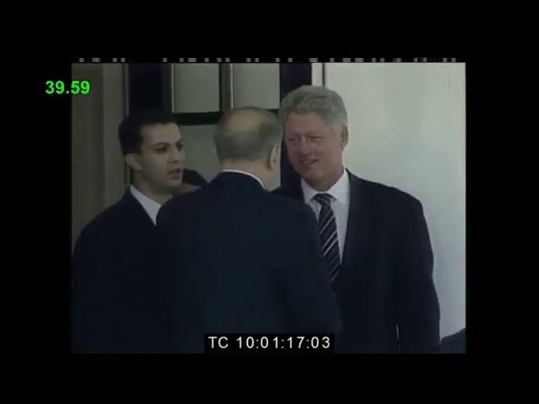 Heydər Əliyev Bill Klinton görüşü 01 08 1997 Amerika