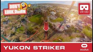 Don`t Look Down - YUKON STRIKER VR180 intense VR Roller Coaster 3D   onride POV Canada´s Wonderland