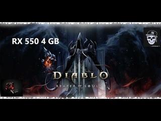Diablo III: Reaper of Souls/RX550 4 GB /8 RAM /I5 - 7500 /LOW PC/TEST/ GAMEPLAY