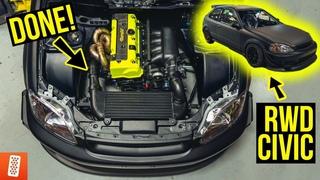 Building a Rear Wheel Drive, K20 Turbocharged Honda Civic EK Hatchback Race Car- Reassembly Part 4