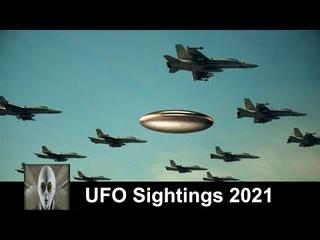 Possible UFO Escort Huge Unknown Object