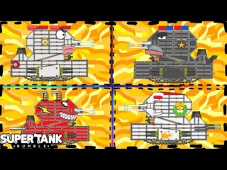 Game xe tăng - Tổng hợp đấu sĩ Leviathan level 28 | Super Tank Rumble | Phim hoạt hình về xe tăng