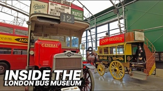 Inside the London Bus Museum, with largest collection of working historic London buses in the world