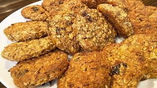 Овсяные печенье без сахара и муки!