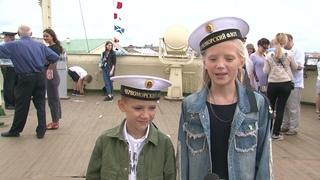 День военно-морского флота на борту ледокола «Красин»