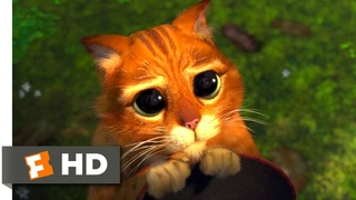 Shrek 2 (2004) - Puss in Boots Scene (3/10)   Movieclips