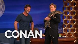 Animal Expert Dave Salmoni: Caracal & Monitor Lizard | CONAN on TBS