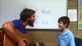 Chris Ulmer and Student Playing Music (Autism)