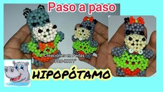 HIPOPÓTAMO con cuentas. hippo with beads