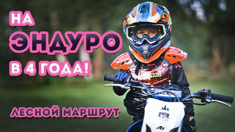 Эндуро Мила Первый лесной маршрут Apollo rxf 50 mini Дети на мотоцикле