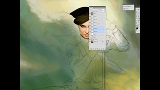 Dan LuVisi paints a female face in Photoshop