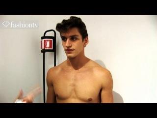 Versace Backstage ft Sebastian Sauve - Milan Men's Fashion Week Spring 2012 | FashionTV -