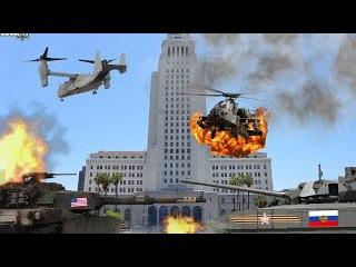 Битва за Лос-Анджелес. Смертельное оружие США - United States army attacking: GTA 5 mods 2016