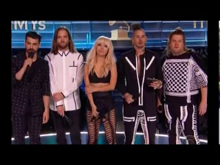 DNCE and James Corden Presenting at the Grammys (February 12th, 2017)