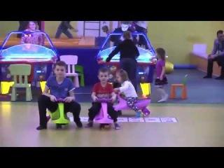 Развлекательный центр с батутами для детей. Бибикары. Indoor Playground with trampolines for kids.
