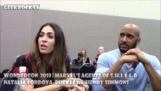 WonderCon 2018 | Marvel's Agents of . | Natalia Cordova-Buckley & Henry Simmons