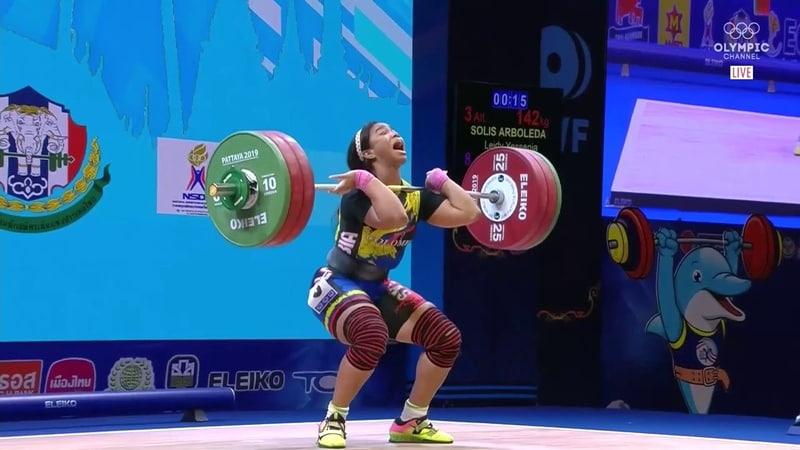 Leydi Solís 81 kg Clean Jerk 142 kg 2019 World Weightlifting Championships