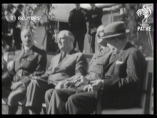 NORTH AFRICA: Historic pictures of Anglo-US meeting where year's campaigns were planned (1943)