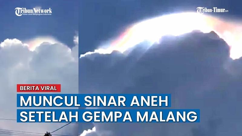 Penampakan Cahaya Aneh Pasca Gempa 6 7 SR Guncang Malang