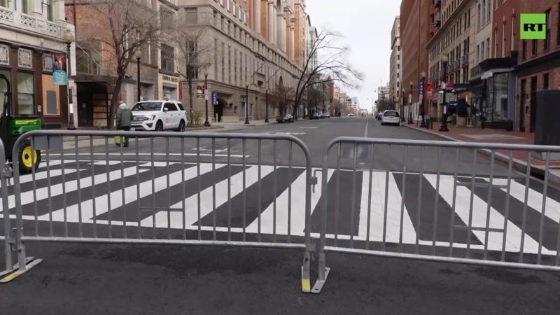В центре Вашингтона усиливают меры безопасности перед инаугурацией Байдена