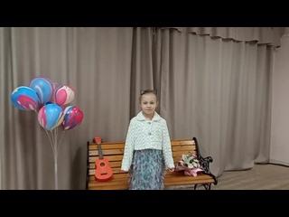 """Лиза Телова со стихотворением Светланы Макарьиной ,,Кошки"""""""