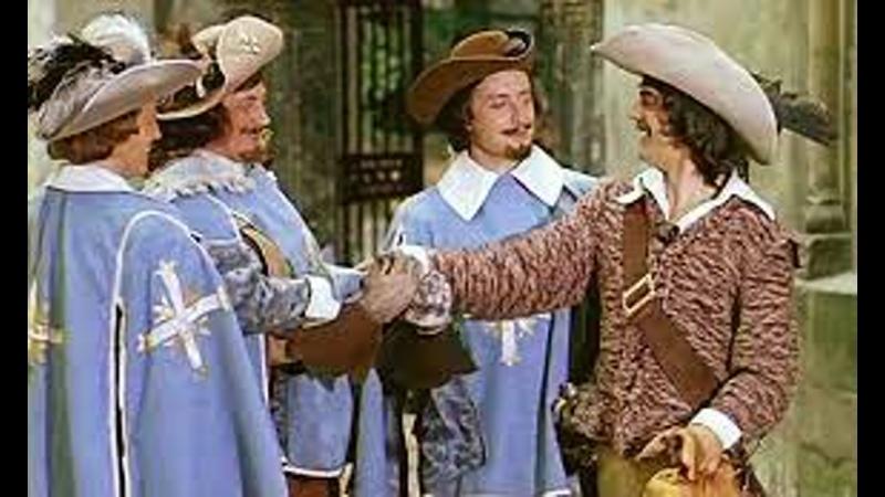 Д'Артаньян и три мушкетера Атос Портос Арамис и Д'Артаньян 1 серия 1978