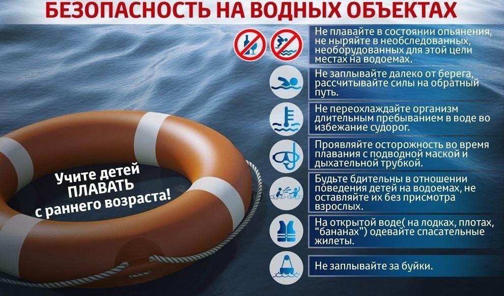 Специалисты регионального управления МЧС напоминают о необходимости соблюдения правил безопасности на водоёмах