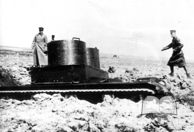 Испытания одного из первых Т-26, изготовленных в 1931 года.