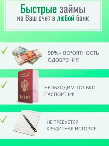 🤑 ВАМ ОДОБРЕН ЗАЙМ !!!✅ Первый ЗАЙМ - 0% на любую ...