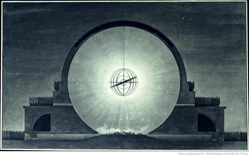 Загадка архитекторов Этьена Булле и Клода Леду идеи которому давали «сущности выходящие из тени», изображение №10
