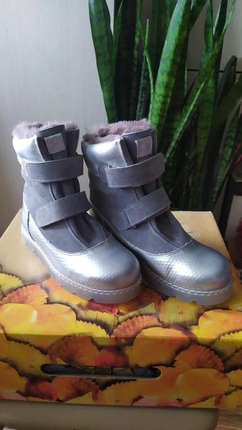 Новые ботинки зимние на девочку 33р. Натуральная к...