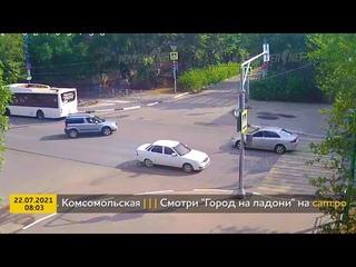 ДТП (авария г. Волжский) пр. Ленина - ул. Комсомольская 22-07-2021 08-03