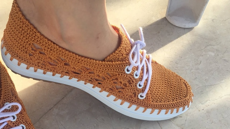 Şık ve Zarif Yazlık Dantel modelli Ayakkabı Yapımı 1 Bölüm örgü ayakkabı yapımı knitting shoes