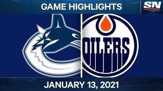 NHL Game Highlights   Canucks vs. Oilers – Jan. 13, 2020