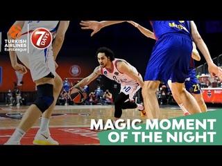 7DAYS Magic Moment of the Night: Shane Larkin & Sertac Sanli, Anadolu Efes Istanbul